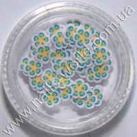 Фимо цветы Flowers White Blue Yellow, 50 шт.
